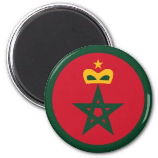 Royal Moroccan Air Force Roundel 2 Inch Round Magnet