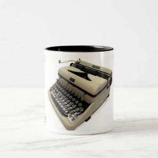 Royal Morse Code typewriter Two-Tone Coffee Mug