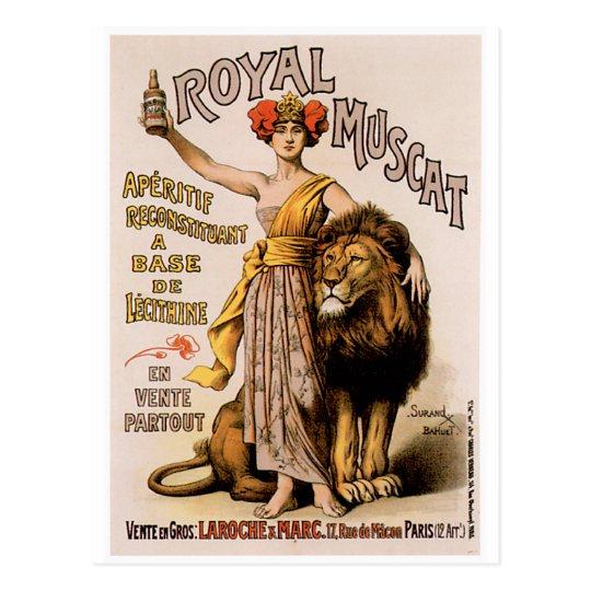 Royal Muscat Vintage Wine Drink Ad Art Postcard