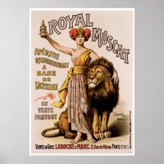 Royal Muscat Vintage Wine Drink Ad Art Poster