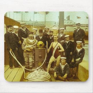 Royal Naval Exhibition 1891 Magic Lantern Slide Mouse Pad