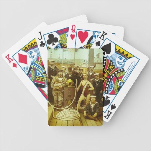 Royal Naval Exhibition 1891 Magic Lantern Slide Bicycle Card Decks