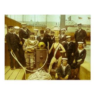 Royal Naval Exhibition 1891 Magic Lantern Slide Postcard