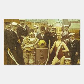 Royal Naval Exhibition 1891 Magic Lantern Slide Rectangular Sticker