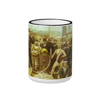 Royal Naval Exhibition 1891 Magic Lantern Slide Ringer Mug