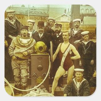 Royal Naval Exhibition 1891 Magic Lantern Slide Sticker