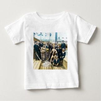 Royal Naval Exhibition 1891 Vintage Hardhat Diver Baby T-Shirt