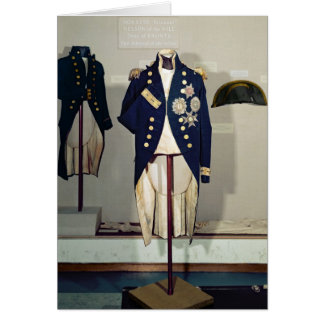 Royal Naval uniform worn Card