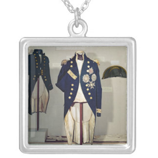 Royal Naval uniform worn Silver Plated Necklace