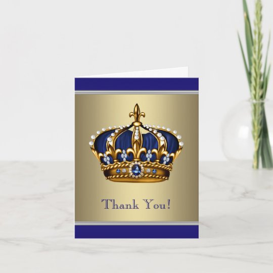 Royal Navy Blue And Gold Thank You Cards Zazzle Com