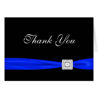 Royal Navy Blue Black Thank You Cards