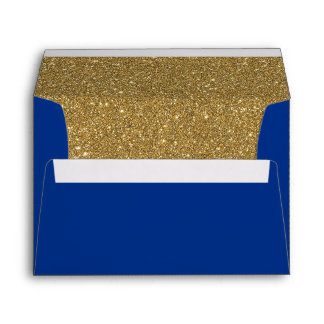 Royal Navy Blue & Gold Lined Envelope