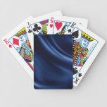 Royal navy blue velvet silk textile elegant chic bicycle playing cards