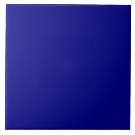 Royal navy dark blue solid trend color background tile zazzle