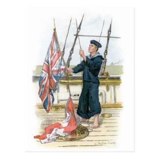 Royal Navy Sailor Signalling Postcard