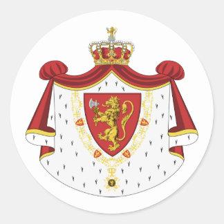Royal Norway, Denmark Round Sticker