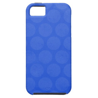 ROYAL OCEAN BLUE HONEYCOMB PATTERN TEMPLATE DIGIT iPhone 5 COVER