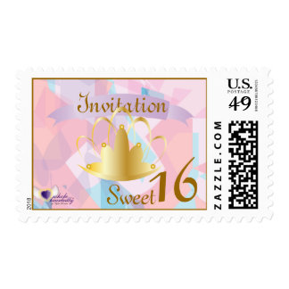Royal Opal Sweet 16/15 Postage-Customize Stamp