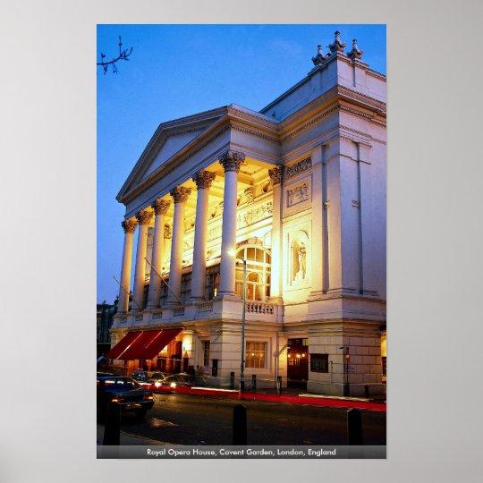 Royal Opera House, Covent Garden, London, England Poster