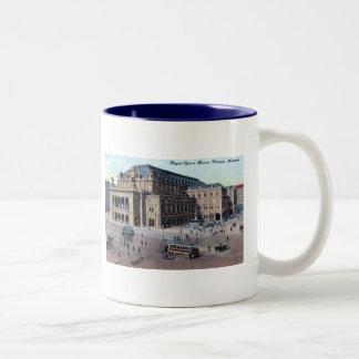 Royal Opera House, Vienna, Austria c1915 Vintage Two-Tone Coffee Mug
