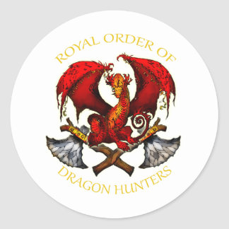 Royal Order of Dragon Hunters Classic Round Sticker