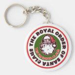 Royal Order of Santa Claus Basic Round Button Keychain