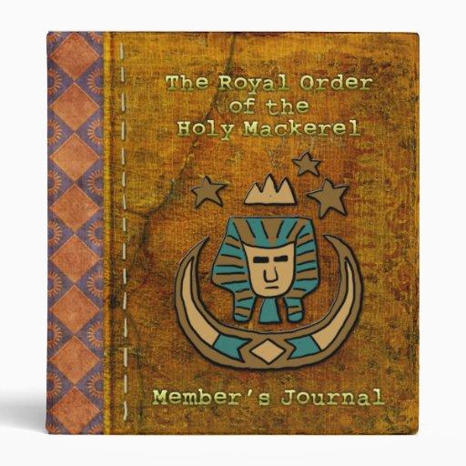 Royal Order of the Holy Mackerel Member's Journal 3 Ring Binder