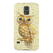 Royal owl golden baroque galaxy s5 cover
