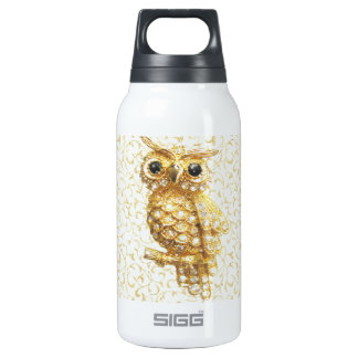 Royal owl golden baroque insulated water bottle