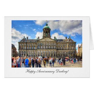 Royal Palace, Dam Square, Happy Anniversay Darling Card