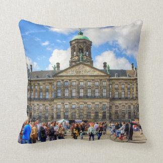Royal Palace - Dam Square, Sights of Amsterdam Throw Pillow