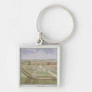 Royal Palace del Hampton Court, de la 'encuesta de Llavero Cuadrado Plateado