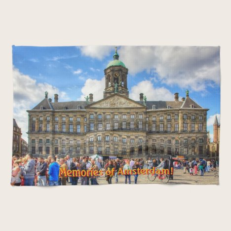 Royal Palace in Dam Square, Memories of Amsterdam Towel