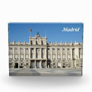 Royal Palace, Madrid Acrylic Award