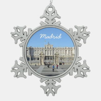 Royal Palace, Madrid Snowflake Pewter Christmas Ornament