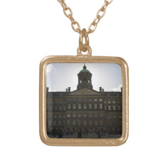 Royal Palace of Amsterdam Square Pendant Necklace