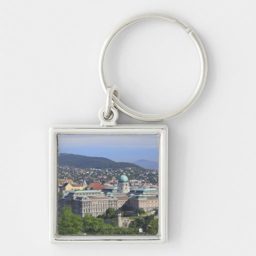 Royal Palace Of Buda Silver-Colored Square Keychain