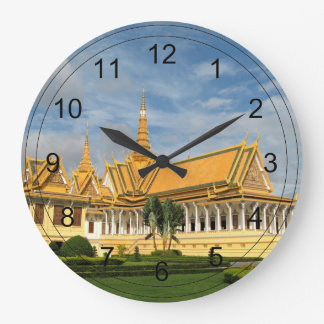 Royal Palace, Phnom Penh, Cambodia - VIRGINIA5050 Large Clock