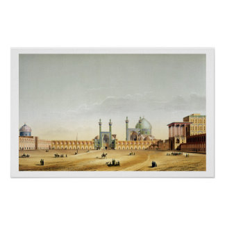 Royal Palace y el Mesdjid-i-Shah, Isfahán, Poster