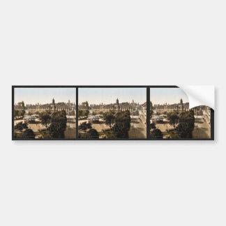 Royal Palace y hotel de ville, clas de Caen, Franc Pegatina De Parachoque
