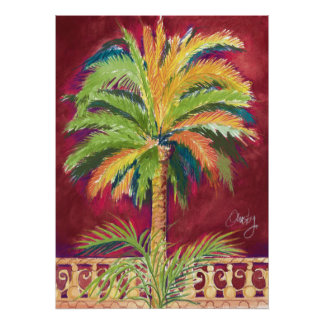 Royal Palm, red- poster