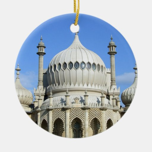 Royal Pavilion, Brighton, Sussex, England Double-Sided Ceramic Round Christmas Ornament