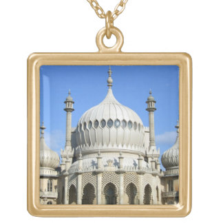 Royal Pavilion, Brighton, Sussex, England Square Pendant Necklace
