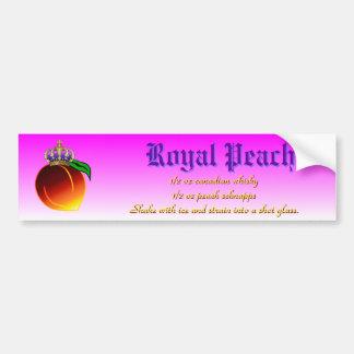 Royal Peach Drink Recipe Bumper Sticker
