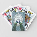 Royal Peacock (Blue) Personalized Playing Cards