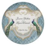 Royal Peacock Blue Wedding Keepsake Plate