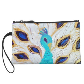 Royal Peacock (Kimberly Turnbull Art) Wristlet Wallet