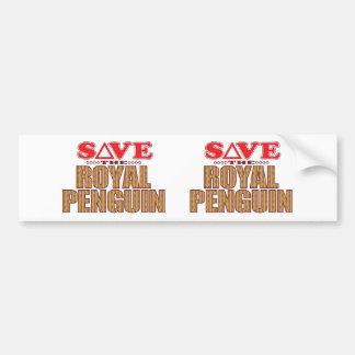 Royal Penguin Save Bumper Sticker