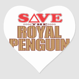 Royal Penguin Save Heart Sticker