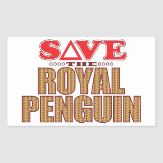 Royal Penguin Save Rectangular Sticker